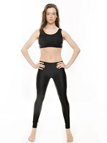32546bdd19c0f KDT002 Girls Ladies Childrens Black Nylon Lycra Shiny Dance Gym Yoga Sport  Fitness Gymnastics Ankle Tights Leggings By Katz Dancewear